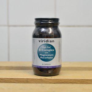 Viridian B-Complex w/ Magnesium Ascorbate Vitamins – 90 QTY