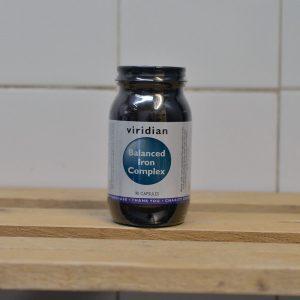Viridian Balanced Iron Complex Vitamins – 90 QTY