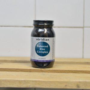 Viridian Balanced Zinc Complex Vitamins – 90 QTY