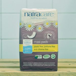 NATRACARE Maxi Pads Super – 12 Pack