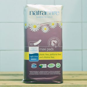 NATRACARE Maxi Pad Night Time – 10 Pack