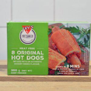 FRYS Vegan Meat Free Hot Dogs – 360g