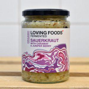Loving Foods Raw Caraway Juniper Sauerkraut – 500g