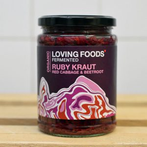 Loving Foods Ruby Red Cabbage Beetroot Kraut – 500g
