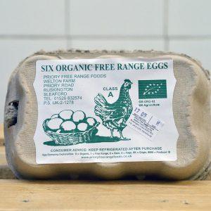 Zeds Organic Free Range Eggs – 6 Pack