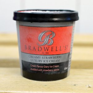 Bradwells Strawberry Ice Cream – 125ml