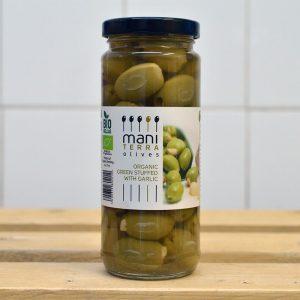 Mani Terra Organic Olives Stuffed With Garlic Olives – 200g