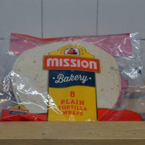 Mission Plain Tortilla Wraps – 8 Pack
