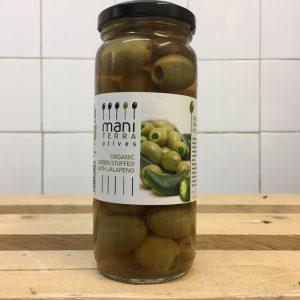 Mani Terra Organic Olives With Jalapeno Olives – 200g