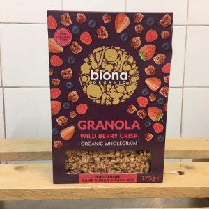 Biona Organic Wild Berry Granola – 375g