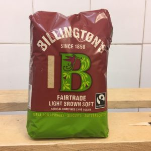 Billington's Fairtrade Light Brown Sugar – 500g