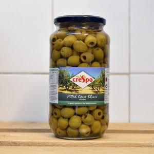 Crespo Pitted Green Olives – 907g