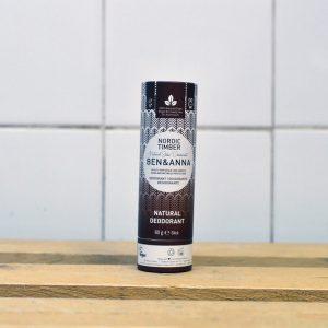 Ben & Anna Plastic Free Nordic Timber Deodorant – 60g