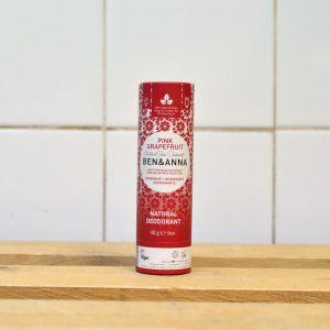 Ben & Anna Plastic Free Pink Grapefruit Deodorant – 60g