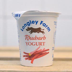 Longley Farm Mini Yoghurt (Rhubarb) – 150g