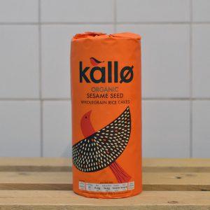 Kallo Organic Sesame Seed Rice Cakes – 130g