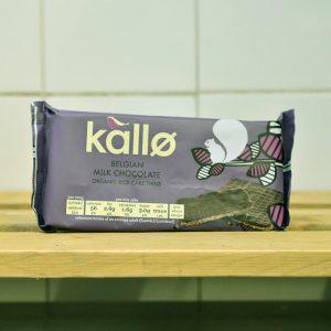 Kallo Organic Milk Chocolate Rice Cake Thins – 90g