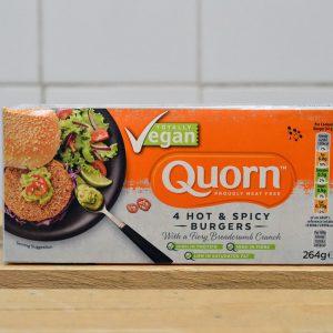 QUORN Vegan Hot Spicy Burgers – 264g