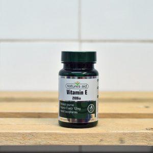 Natures Aid 200iu Natural Form Vitamin E – 60 QTY