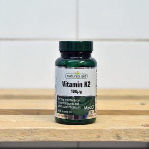 20% off Nature's Aid Vitamin K2 100ug with Vit D – 30 QTY