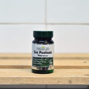20% off Nature's Aid Zinc Picolinate 15mg – 30 tabs
