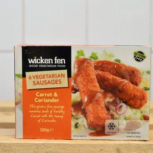 Wicken Fen GF Vegan Carrot Coriander Sausages – 280g