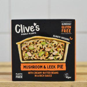 Clives Frozen Mushroom Leek Pie Gluten Free – 235g