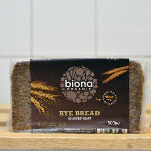 Biona Organic Rye Plain Bread – 500g