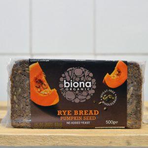 Biona Organic Pumpkin Seed Rye Bread – 500g