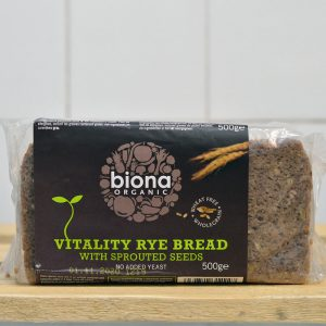 Biona Organic Rye Sprouted Bread – 500g