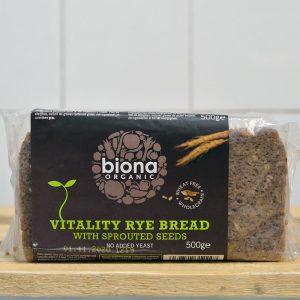 Biona Organic Rye Vitality Bread – 500g