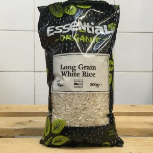 Essential Organic Long Grain White Rice – 500g