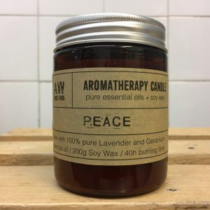AW Aromatherapy Candle Peace – Geranium/Lavender
