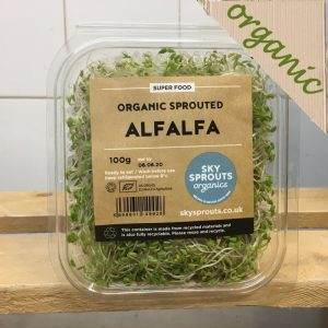 Zeds Organic Alfalfa Sprouts – 100g