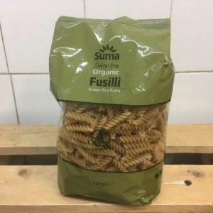 Suma Gluten Free Organic Brown Rice Fusilli Pasta – 500g