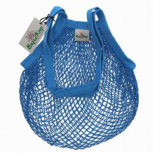 Cotton String Bag Blue