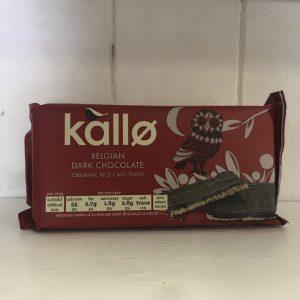 Kallo Orgaic Belgian Dark Chocolate Rice Cake Thins – 90g