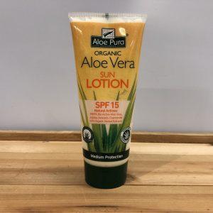 Aloe Pura Organic Sun Cream spf 15