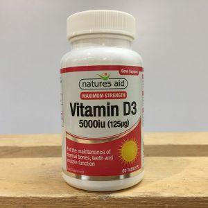 20% off Nature's Aid Vitamin D3 5000i – 60 tablets