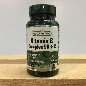 20% off Nature's Aid Vitamin B Complex 50 High Potency – 30 QTY