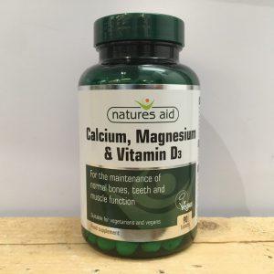 20% off Nature's Aid Calcium Magnesium & Vitamin D3 – 90 QTY