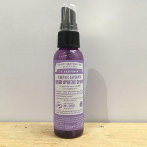 Dr Bronner's Organic Lavender Hand Sanitising Spray – 60ml