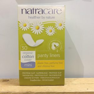NATRACARE Mini Panty Liners – 30 Pack