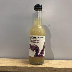 Loving Foods Sauerkraut Juice with caraway and juniper- 250ml
