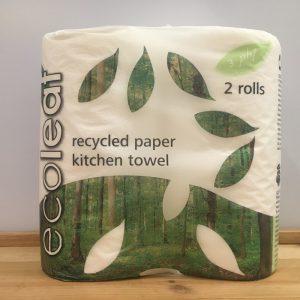 EcoLeaf 3 Ply Kitchen Towel Roll – 2 Pack