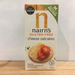 Nairns GF Savoury Cheese Oatcake – 180g