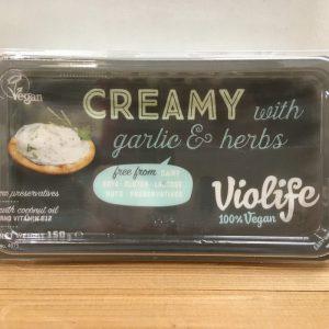 Violife Vegan Creamy Garlic Herb Cream Cheese – 150g