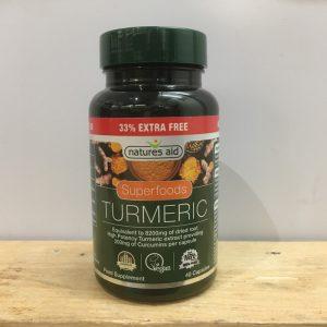 Nature's Aid Turmeric Capsule – 40 QTY