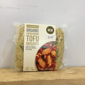 Clearspot Organic Lincolnshire Tofu Sausages